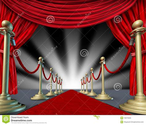 carpet and drapes red carpet curtains grand opening royalty free stock photo