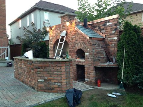 backyard brick bbq outdoor brick bbq and pizza oven deck pinterest