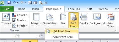 printable area excel 2010 how to set print area for multiple sheets excel 2007