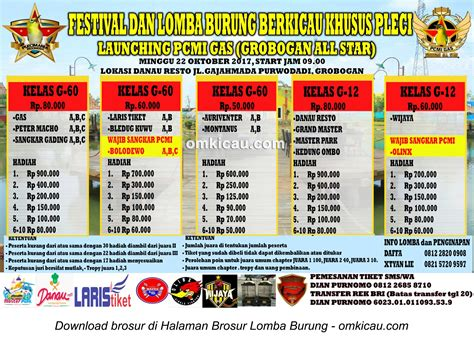 desain brosur lomba kontes pleci launching pcmi gas grobogan all star