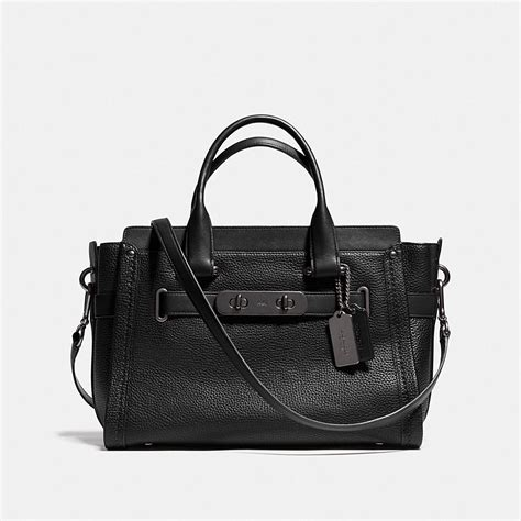 New Arrival Coach Swagger Mini coach swagger carryall in pebble leather
