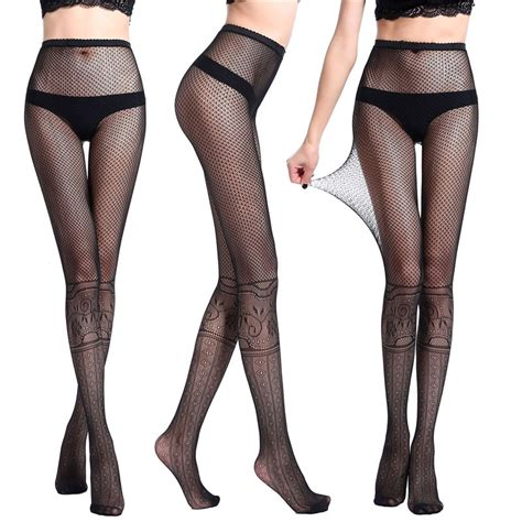patterned nylon tights women s black pantyhose mesh fishnet patterned tights