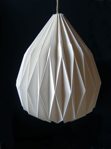 How To Make Paper Lshade - white teardrop paper shade