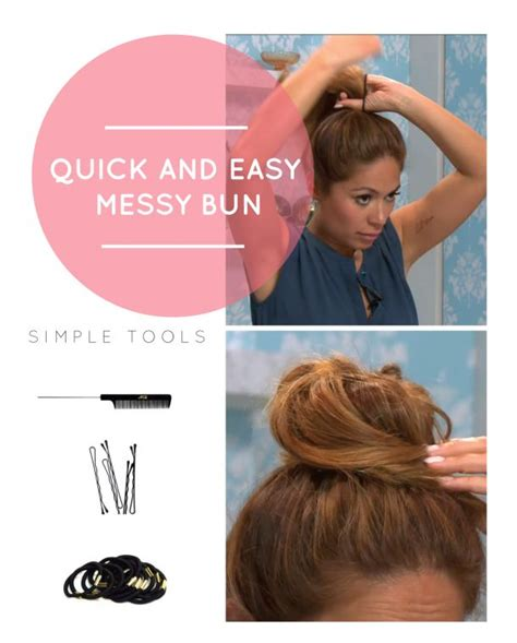 how to do quick messy hairstyles how to do a quick and easy messy bun for claire