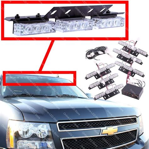 and white emergency vehicle lights purchase 54 led emergency vehicle strobe lights lightbars