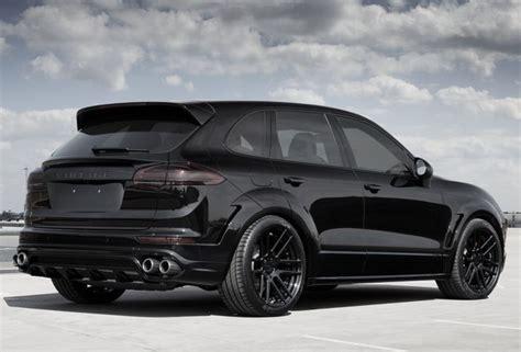 porsche suv blacked black beast topcar porsche cayenne invictus cars