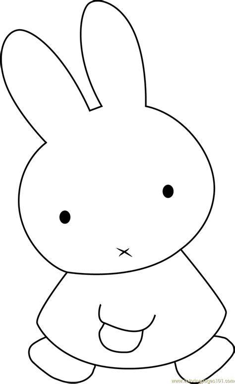 rabbit coloring pages pdf miffy the rabbit coloring page free miffy coloring pages
