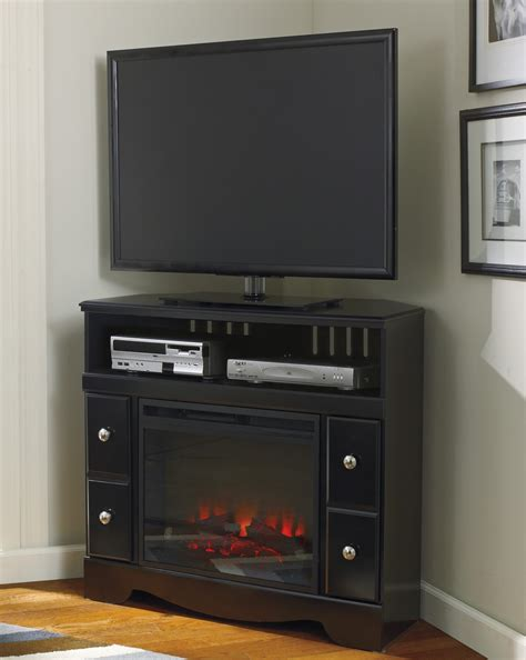 tv stands with fireplace insert shay corner tv stand with fireplace insert w271 12 w100 01 signature design by