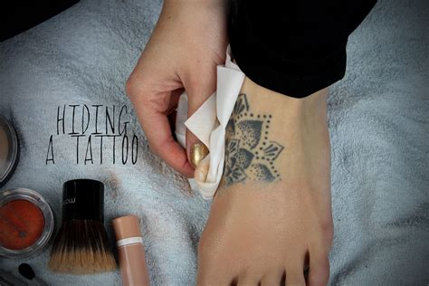 how to cover up a tattoo with simple drugstore makeup