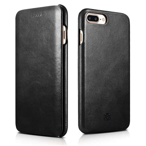 novada genuine leather flip cover for iphone 8 plus 7 plus vintage ebay