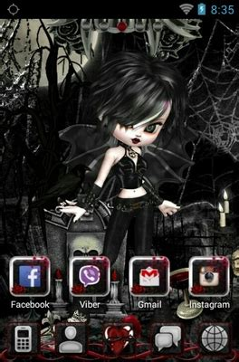 themes for android doll gothic doll android theme for go launcher androidlooks com