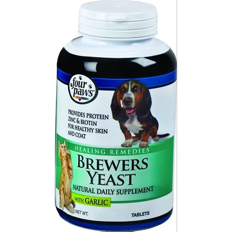 brewers yeast for dogs brewers yeast supplement with garlic four paws products gregrobert