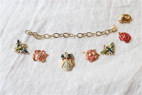 diy enamel charm bracelet the stripe