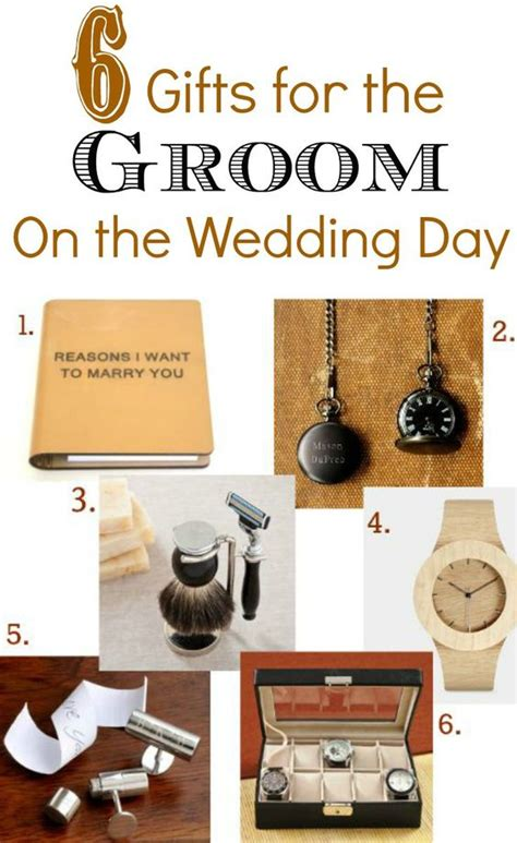 gifts for the the groom and wedding day on