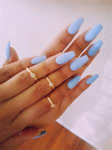 matte color nails blue matte nails image 3192848 by marine21 on favim