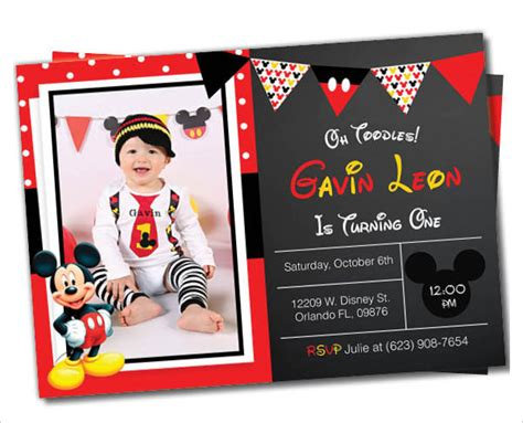 Mickey Mouse Invitation Templates 26 Free Psd Vector Eps Ai Format Download Free Mickey Mouse Invitation Templates