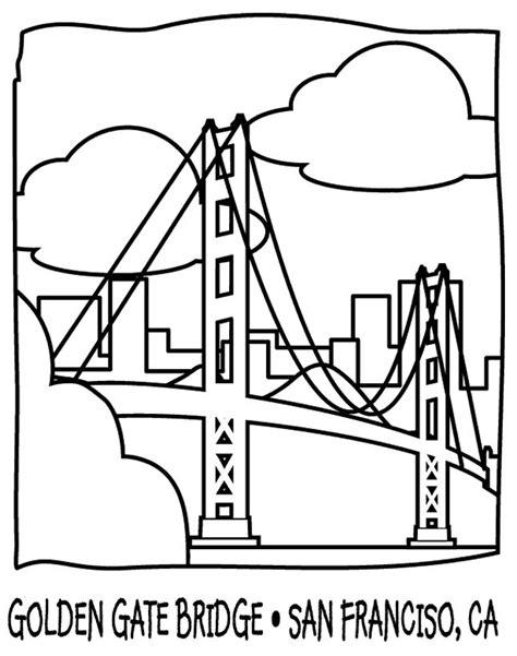 printable coloring pages golden gate bridge golden gate bridge drawing pinterest