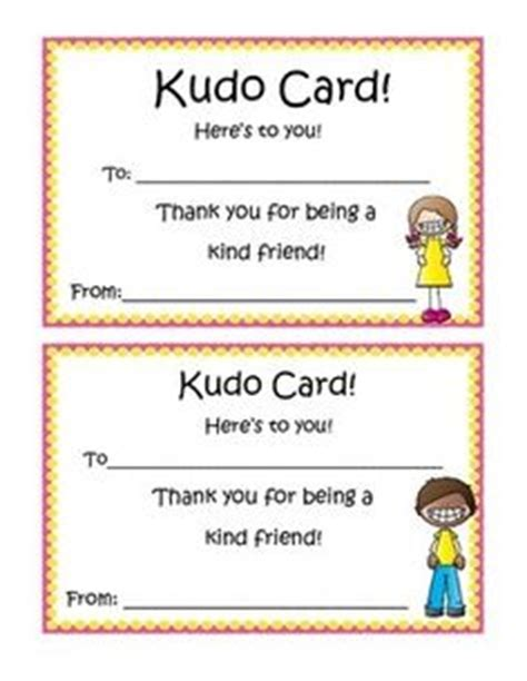 kudo cards templates 1000 images about awards and recognition for kindness and