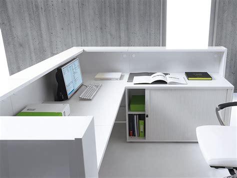 desk inside a linea reception desk