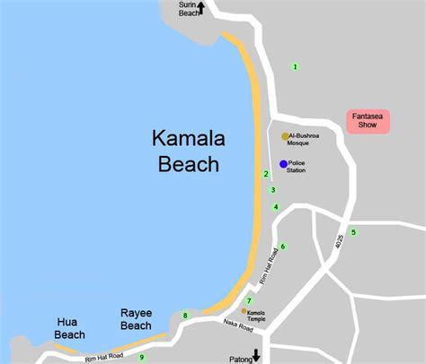 kamala resort map phuket map kamala