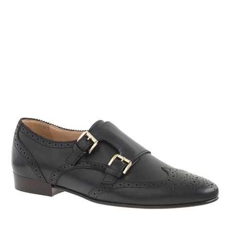 monk loafers j crew perforated monk loafers in black lyst