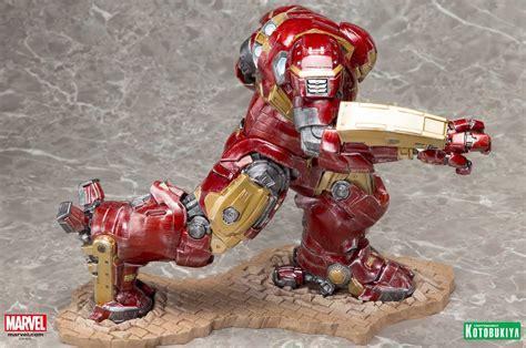 Original Kotobukiya Vs Hulkbuster Set age of ultron buster iron 44 artfx statue