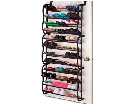 36 pair over door hanging hook shoe rack shelf organiser new black 36 pair over the door hanging shoe shelf rack