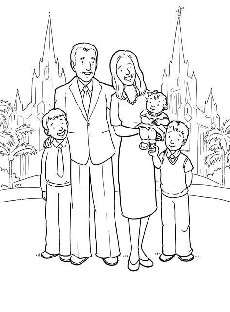coloring pages lds sacrament a family at the temple