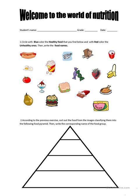 Food Pyramid Worksheet by Food Pyramid Worksheets Informationacquisition