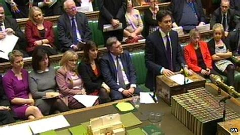 labour party front bench ed miliband claims david cameron is failing women bbc news
