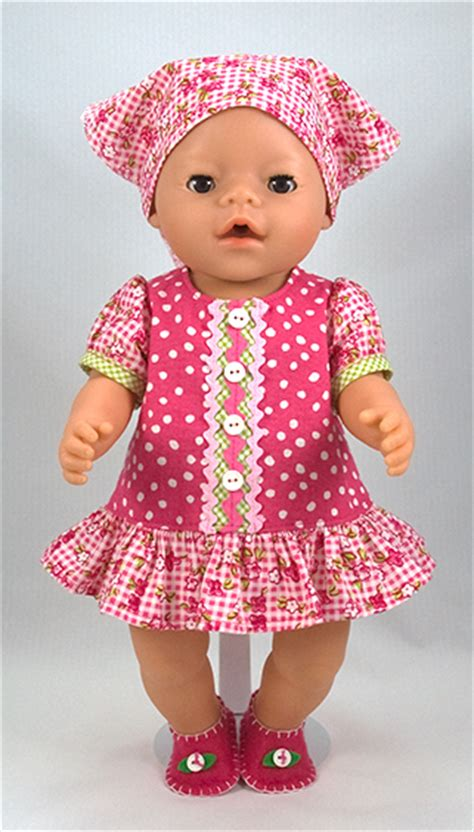pattern with clothes free baby born 174 doll clothes pattern in english