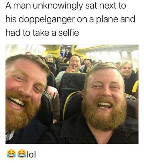 Men Selfie Meme - make up man selfie meme a man unknowingly sat next to his