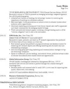 resume for a director product management susan ireland