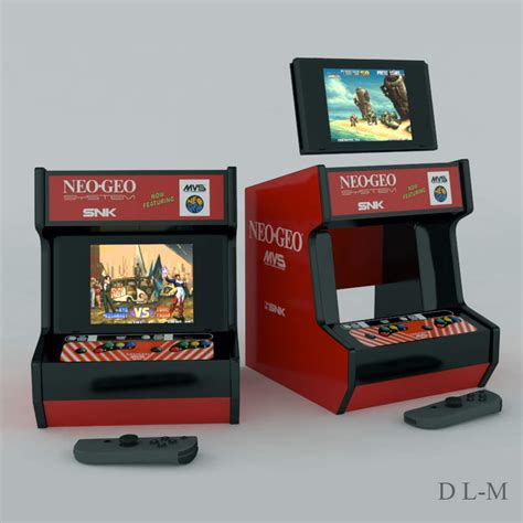neogeo mini custom 3d printed neo geo mini arcade cabinet for your