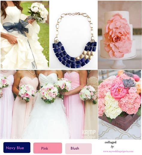 navy blue and pink wedding colors weddbook
