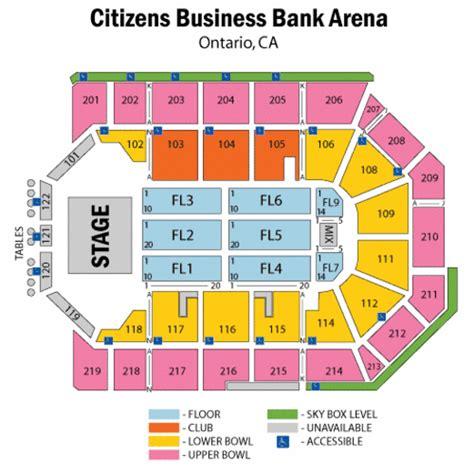 Wells Fargo Floor Plan Citizens Business Bank Arena Seating Chart Citizens