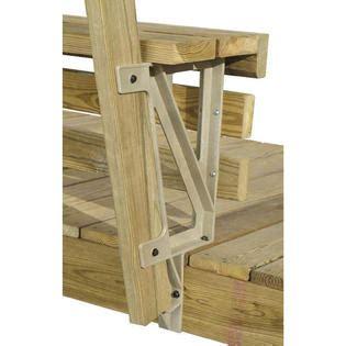 2x4 basics bench brackets for decks 2x4 basics dekmate 2pc resin deck bench brackets sears