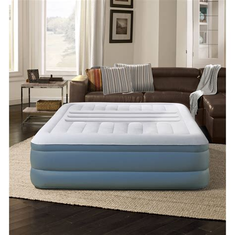 lumbar raised air bed mattress with built in cing new 612650124496 ebay