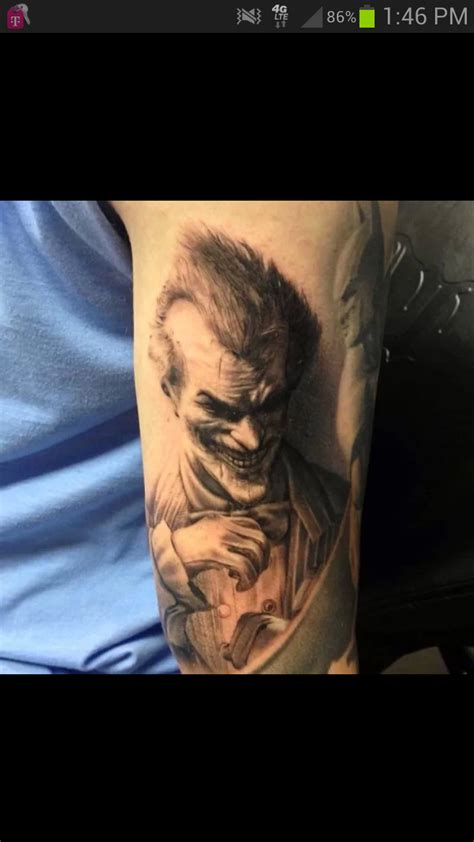 joker tattoo arkham city arkham city joker tattoo done by francisco sanchez batman
