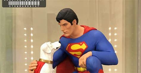 christopher reeve krypto statue jimsmash christopher reeve superman krypto statue