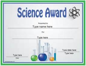 education certificates science award template