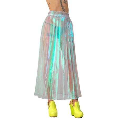 Handmade Skirts - handmade iridescent pleated skirt xs xl choose your size