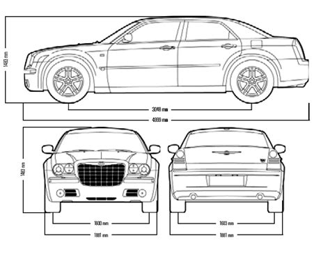 Chrysler 300 Dimensions by Tutorials3d Blueprints Chrysler 300 C