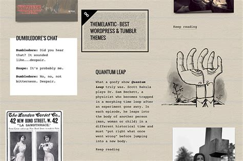 tumblr themes quirky memorabilia tumblr theme by themelantic themeforest