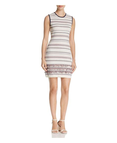 cupcakes and cashmere lyst cupcakes and cashmere sonata striped jumper dress