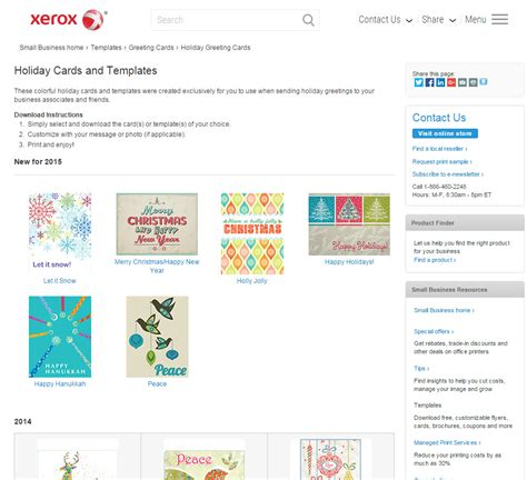 xerox printable birthday cards print your own holiday greeting cards with free