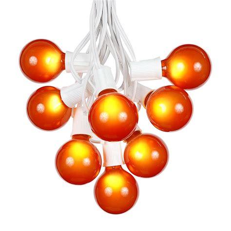 g50 string lights 25 foot g50 outdoor globe patio string lights set of 25