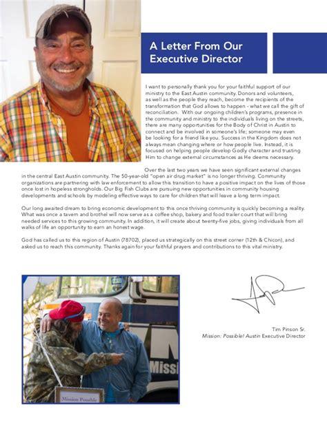 Annual Report Letter From Executive Director graphic design non profit annual report