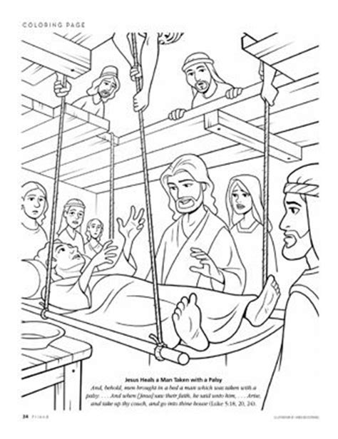 coloring pages jesus heals the paralyzed 1000 ideas about jesus heals craft on mustard