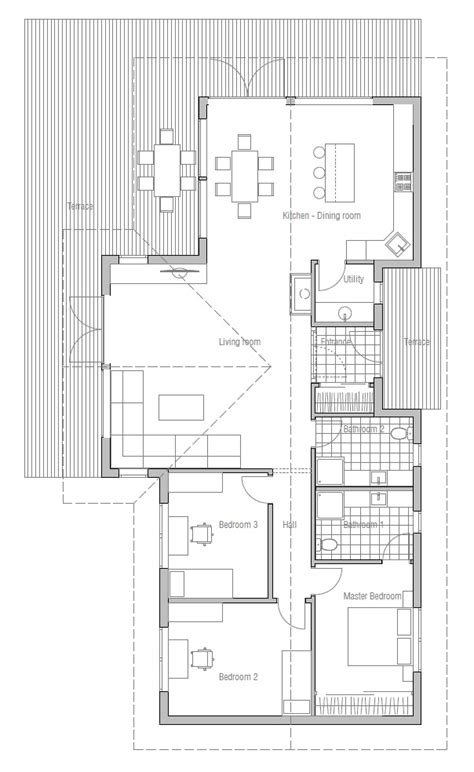 Small House Plans Vaulted Ceilings Small House Plan Ch128 With Interior And Vaulted